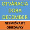 Pracovná doba v decembri 2018